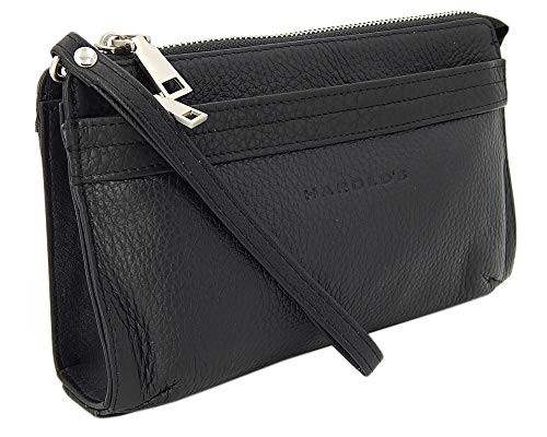 a38b4fc5a4600 ekavale Elegante Herren Handgelenktasche Herrenhandtasche aus echtem Leder  mit abnehmbarer Handgelenkschlaufe (Schwarz)