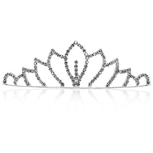 Tiara nupcial diadema para el pelo de lujo ideal para bodas princesa con cristales