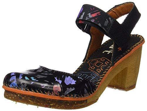 ART Donna 1051 FANTASY Amsterdam Sandali Con Cinturino alla Caviglia Nero Nero del Chaos