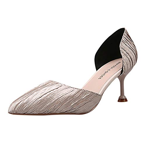 c919bc3f75f VECDY Women's Shoes, Summer Air Mesh Pointed Toe Thin High Heel Wedding  Party Shoes Sexy Ladies Sandals Princess Shoes 4-6 Size(4,Silver)