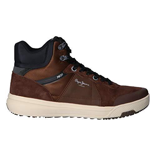 Pepe Jeans London Slate Pro Boot, Zapatillas Altas para Hombre, Marrón Dark Brown 898, 43 EU