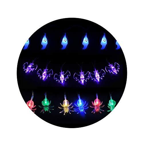 (LED Lichterkette, iitrust Halloween Lichterkette USB-Stromversorgung   Geist, Fledermaus und Spinne Beleuchtung Form (2 Meter 20er LED))