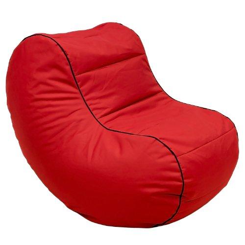 Lumaland Luxury Lounge Chair Sitzsack stylischer Beanbag 320L Füllung Rot -