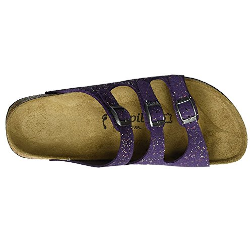 Papillio Womens by Birkenstock Florida Suede Sandals Grace Violet