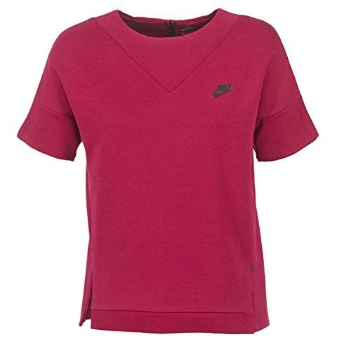 Nike Damen Tech Fleece Crew Sweatshirt, schwarz, 36/38 Tech Fleece-pullover