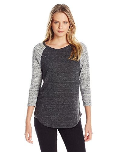 Alternative Damen Eco Jersey Space Dye Raglan Baseball Tee - grau - X-Groß -