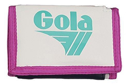 Ragazzi/ragazze gola tre piegature nylon moneta & biglietto portafogli - colori assortiti - bianco/verde blu/viola