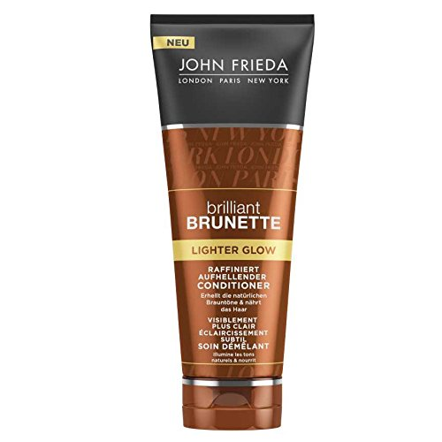 John Frieda Brilliant Brunette Lighter Glow Raffiniert Aufhellender Conditioner, 2er Pack (2 x 250 ml) (Honig-haar-conditioner)