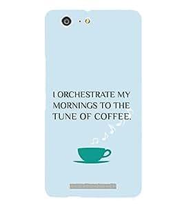 PrintVisa Coffee Quotes Design 3D Hard Polycarbonate Designer Back Case Cover for Gionee Marathon M5 Lite