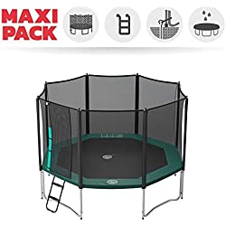 Pack Trampoline octogonal + Accessoires - Gamme Waouuh - 460 cm - France Trampoline