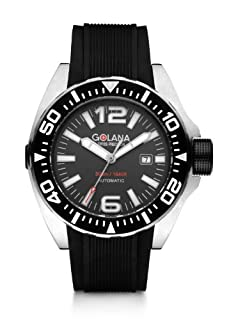 Golana Advanced Aqua Men's Automatic Watch with Grey Dial Analogue Display and Black Rubber Strap ADQ100-2 (B008GB2DV4) | Amazon price tracker / tracking, Amazon price history charts, Amazon price watches, Amazon price drop alerts