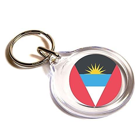 Flagge für Antigua und Barbuda Emoji Schlüsselanhänger / Flag for Antigua & Barbuda Emoji Key Ring