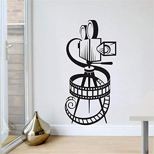 Wandaufkleber Kinderzimmer Wandkunst Aufkleber Film Kamera Filmrolle Heimkino Vintage Theater Aufkleber Wohnzimmer Spielzimmer Fotostudio