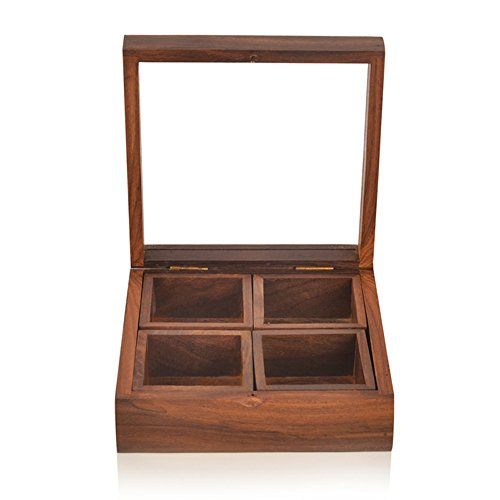 9c872dea78f7 ExclusiveLane Spice Box with Container & Spoon in Sheesham Wood - Spice  Rack Spice Holders Masala Container Buy ExclusiveLane Spice Box with  Container ...