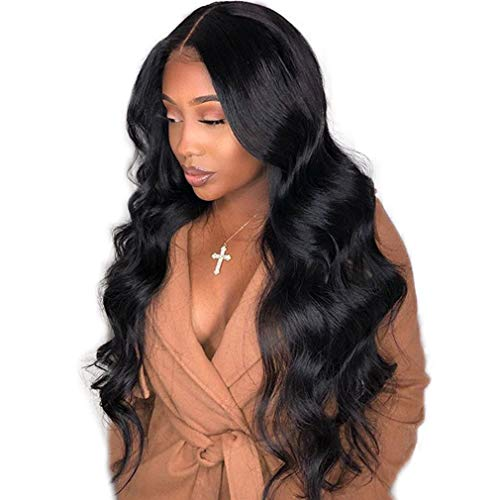 360 Lace Frontal Wig Body Wave Human Hair Wig for Black Women Natural Color Echthaar Perücke Kurz 100% Echte Haare Menschliches Haar Bleached Knots 12 zoll Lady Perücke
