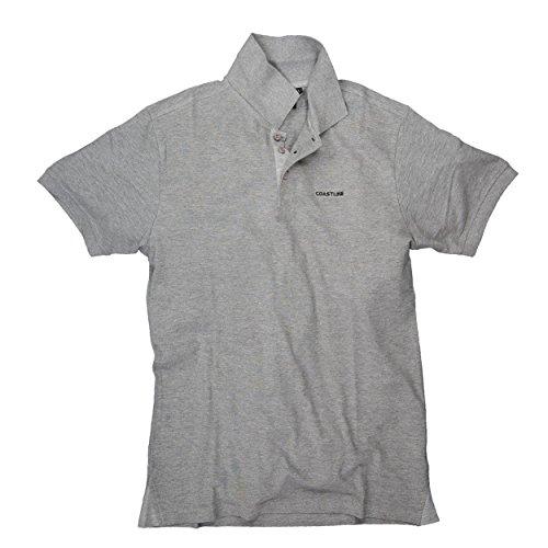 Herren Poloshirt T-Shirt Hemd Kurzarm Freizeithemd T-Shirts Unisex Coastline Dark Grey Melange
