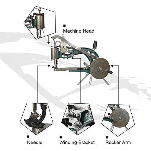 5ab478e46 HUKOER Máquina de mano Zapatero zapatero Máquina de reparación de bricolaje  Máquina de coser línea de nylon de algodón doble Herramientas hecho a mano  ...