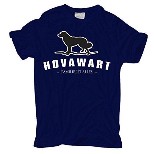 Männer und Herren T-Shirt Hovawart - Familie ist alles Größe S - 8XL Dunkelblau