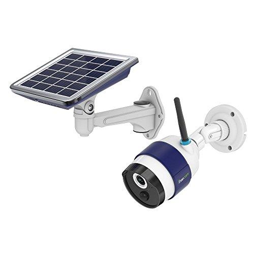 FREECAM Fotocamera wifi alimentata ad energia solare Attivata automaticamente Telecamera di sicurezza domestica senza fili con sensore di movimento PIR e visione notturna per uso esterno