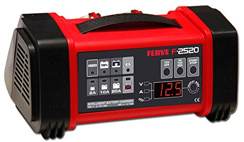 FERVE F-2520 Cargador Automático Baterías Plomo