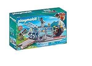 PLAYMOBIL Dinos Hidrodeslizador con Jaula, Flotante, a Partir de 4 Años (9433)