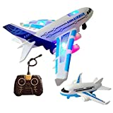 Markc Avion jouet for enfants Sound and Light de 6 ans, modèle d'avion de contrôle, avion télécommandé A380, avion électrique for passagers, résistant à la chute au sol