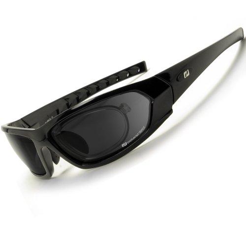Daisan Sonnenbrille polarisierende Sportbrille mit Optik-Clip D 1061-5