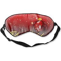 Schlafmaske mit Christbaumkugel, mit verstellbarem Gurt, Rot preisvergleich bei billige-tabletten.eu