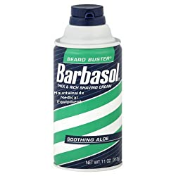 Barbasol Soothing Aloe Thick & Rich Shaving Cream for Men, 6 OZ