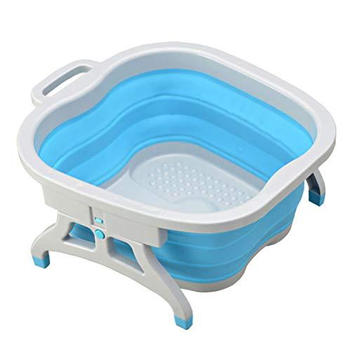 SUPVOX Vaschetta lavapiedi pieghevole vaschetta pedicure idromassaggio piedi plantare (blu)