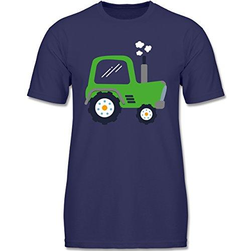 Fahrzeuge Kind - Kinder Traktor - 104 (3-4 Jahre) - Navy Blau - F140K - Jungen T-Shirt