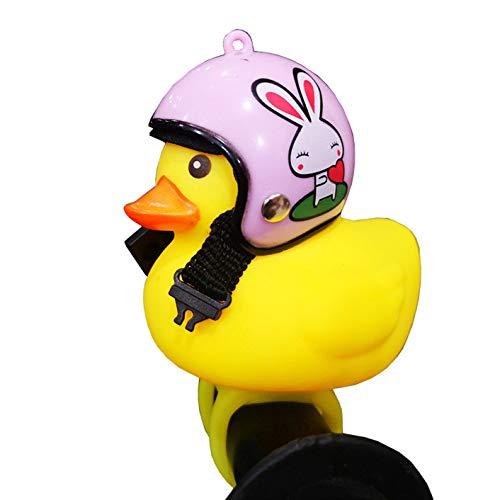 BSGP Kinder Fahrradhupe, niedliche Fahrradlichter für Kinder, Kleinkinder, Erwachsene, Radfahren, leichte Gummiente Spielzeug, Clip am Lenker Style #4