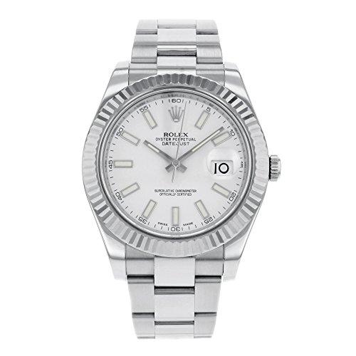 Rolex Datejust II 116334Wio 18K oro bianco e acciaio automatico orologio da uomo