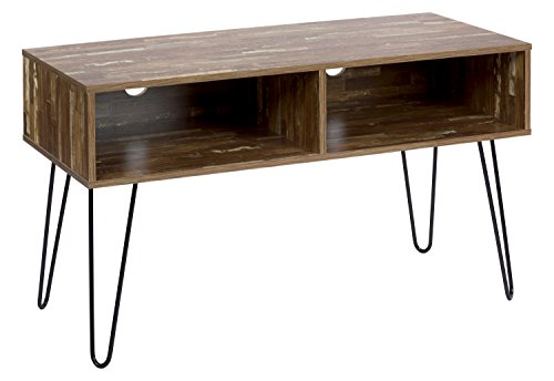 ts-ideen TV-Bank HiFi Board Schrank Lowboard Fernsehtisch Antik Design Holz Used Look Braun 107 x 63 cm