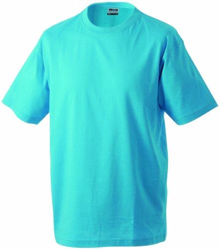 James & Nicholson Herren Kurzarm Shirt Blau (turqouise)