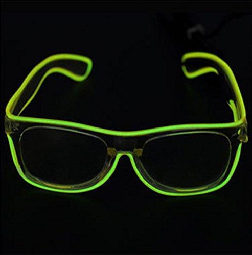 dngdom LED-Licht bis Fashion Gläser beleuchtet LED Neon Brillen für Parteien, Kostüm, Ball, Disco Clubs, Halloween, Geburtstage, Festivals (Kostüme Von 10 Gruppe Halloween)