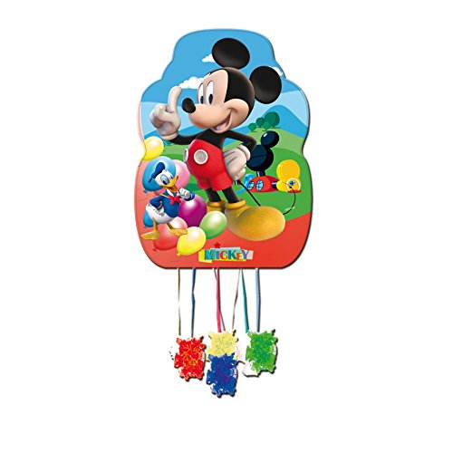 ALMACENESADAN 0840, Piñata Disney Mickey Mouse-Profil, bunt, für Partys und Geburtstage, Maße: 33x46 cm (Mickey Pinata)