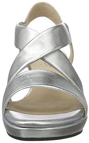 Gabor Ladies Comfort Open Sandali Argento (argento (a.obl) 10)