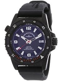 Zeno Watch Basel Professional Diver Blacky 6427-bk-s1-7 - Reloj analógico automático para hombre, correa de silicona color negro