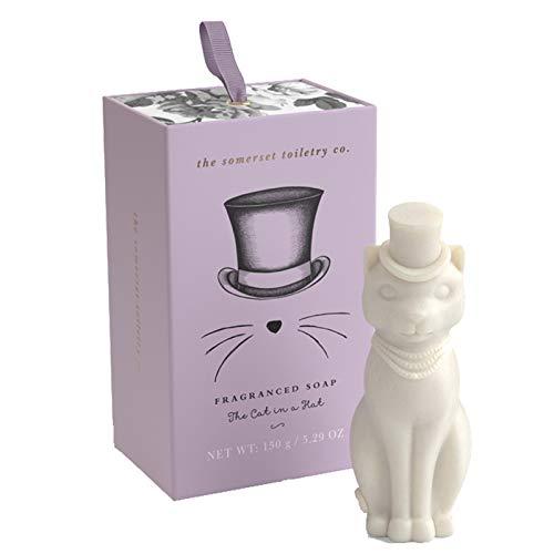 The Somerset Toiletry Seife Motiv Katze mit einem Hut in Geschenkschachtel 150 g -