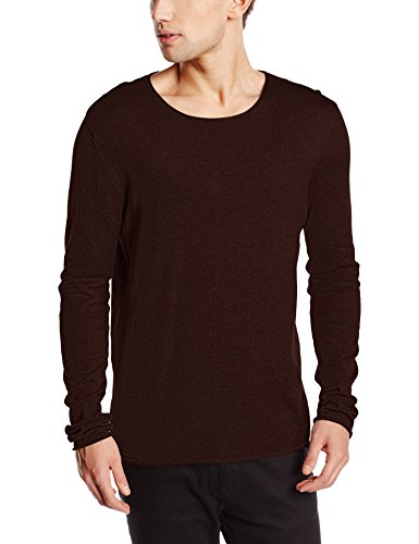 SELECTED HOMME Herren Pullover Shddome Crew Neck Noos, Rot (Bordeaux), Large