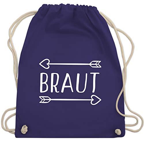 JGA Junggesellinnenabschied - Braut Pfeile - Unisize - Lila - WM110 - Turnbeutel & Gym Bag (Pfeile Lila)