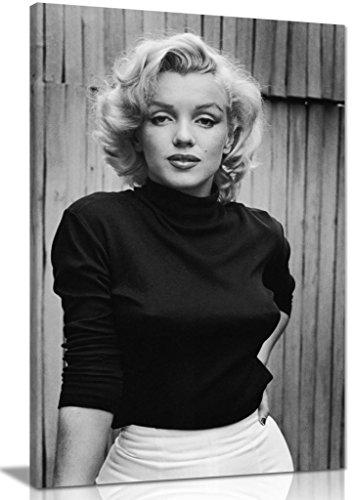 Schwarz & Weiß Marilyn Monroe Fashion Shoot Leinwand Kunstdruck Bild, schwarz / weiß, A2 61x41 cm (24x16in)