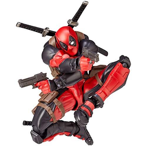 Mmhot Deadpool Action Figure Dekoration, Spielzeug/Die bewegliche Oberfläche wechselt die Hand/PVC bemalte einfache Montagefigur