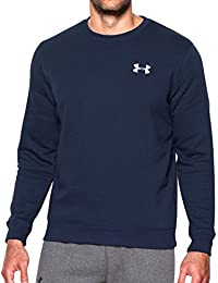 Under Armour Rival Solid Fitted Crew Sudadera, Hombre, Azul, XL
