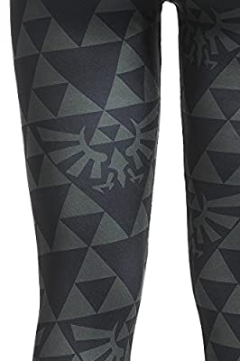 The Legend of Zelda Black And Green Triforce Legging noir/vert