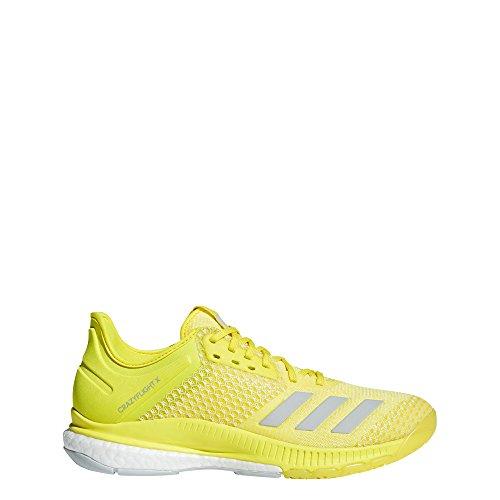 adidas Crazyflight X 2, Scarpe da Pallavolo Donna, Giallo Shoyel/Ashsil/Ftwwht, 39 1/3 EU