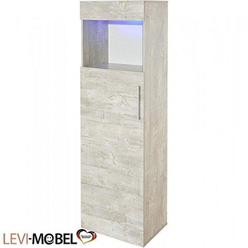 Moebelaktionsshop24 VITRINE Wohnzimmer WOHNWAND ANBAUWAND Beton-Optik MATT NEU 869299