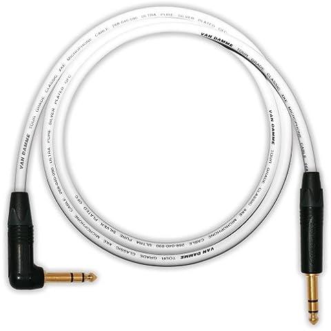 Designacable NP3X-B-VDMIWE0050-NP3RX-B - Cable jack (balanceado, acodado, 50 cm), color negro y
