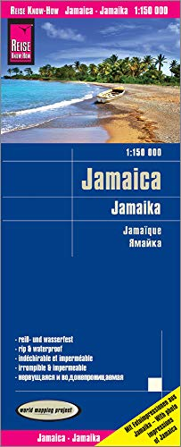 Reise Know-How Landkarte Jamaica (1:150.000): world mapping project